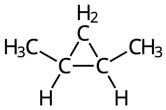 Cis-1,2-dimetylcyklopropan.